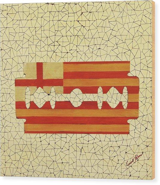 Barcelona Wood Print by Emil Bodourov