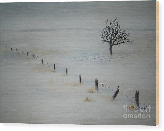 Bare Tree Wood Print by Vivian  Mosley