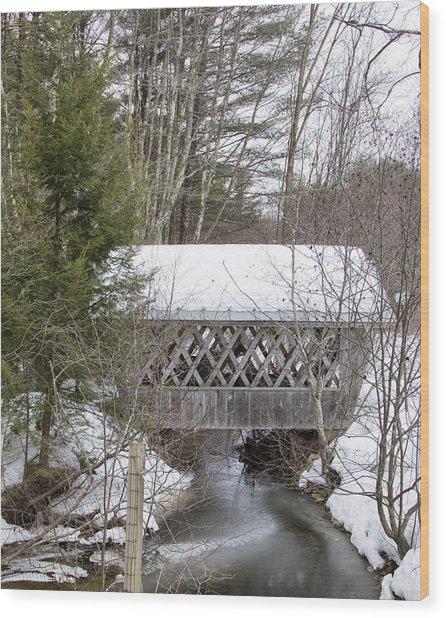 Bare-walker Covered Bridge  Wood Print