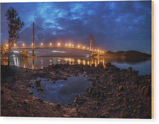 Barelang Bridge, Batam Wood Print