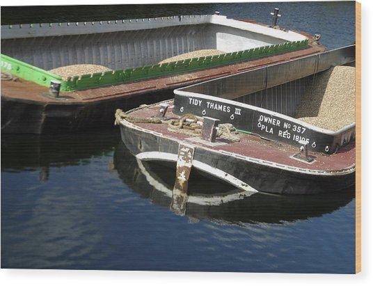 Barge Love Wood Print by Jez C Self