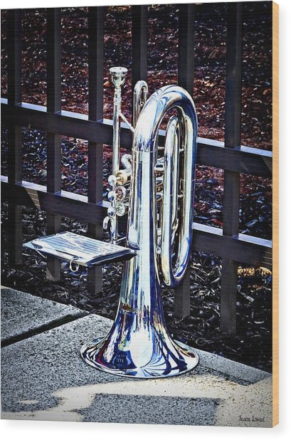 Baritone Horn Before Parade Wood Print