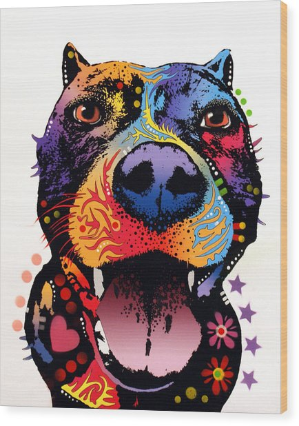 Bark Don't Bite Wood Print by Dean Russo Art