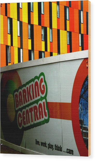 Barking Central Wood Print by Jez C Self