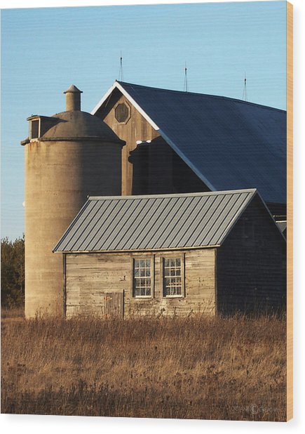 Barn At 57 And Q Wood Print