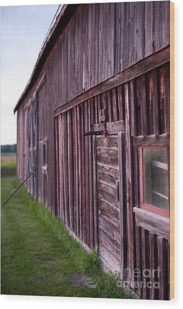 Barn Door Small Wood Print