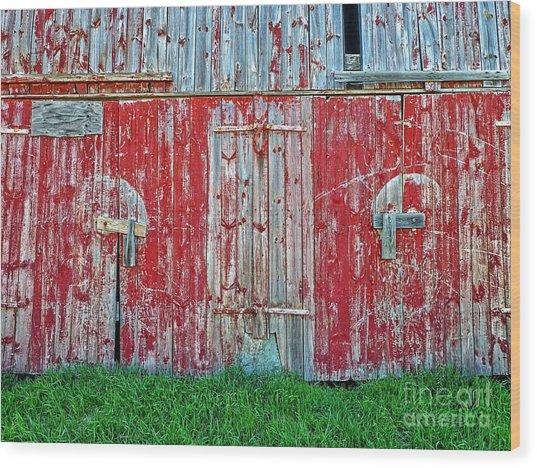 Barn Doors Wood Print