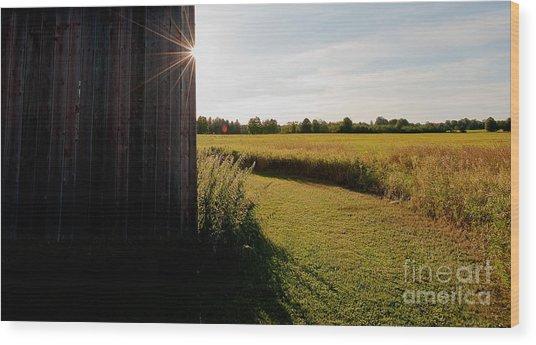 Barn Highlight Wood Print