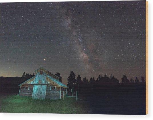 Barn In Rocky Wood Print