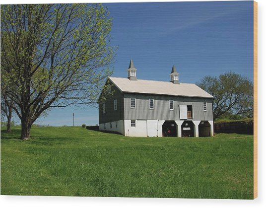 Barn In The Country - Bayonet Farm Wood Print