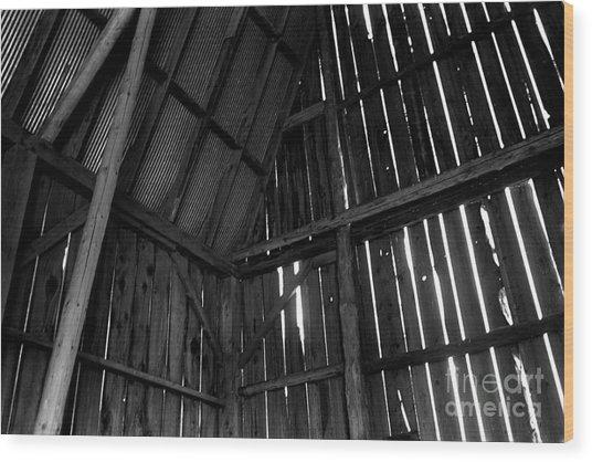 Barn Inside Wood Print
