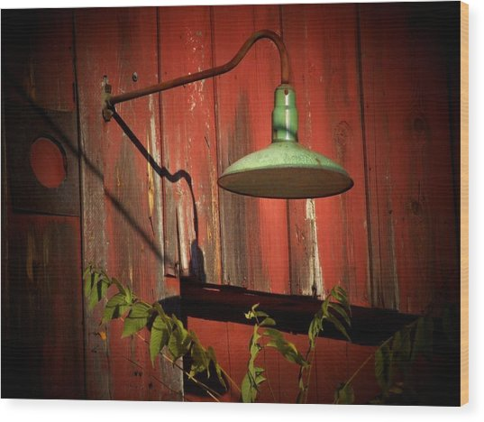 Barn Light Wood Print