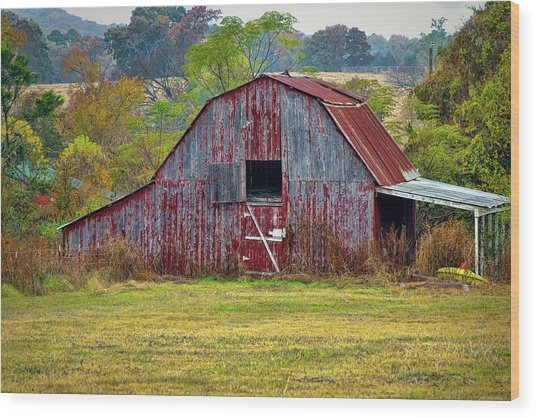 Barn On White Oak Road 2 Wood Print