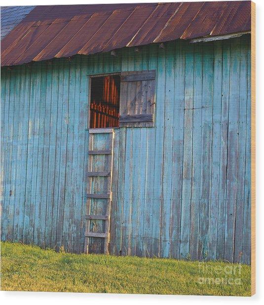 Barn Shadows. Vermont Wood Print