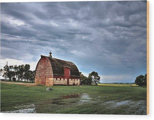Barn Storming Wood Print