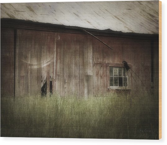 Barn West Wood Print