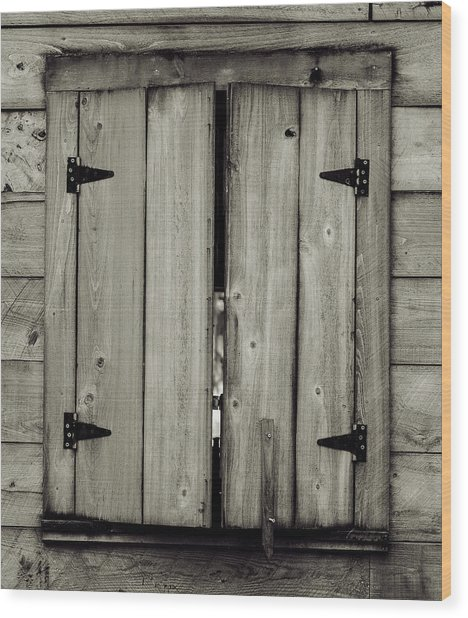 Barn Window Wood Print