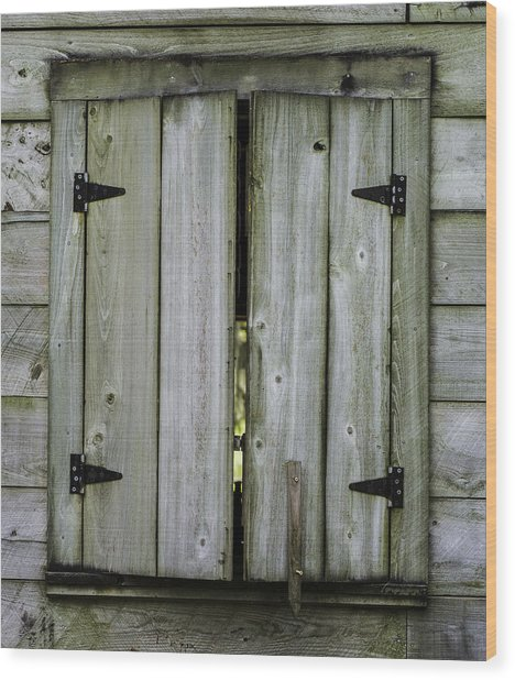 Barn Window, In Color Wood Print