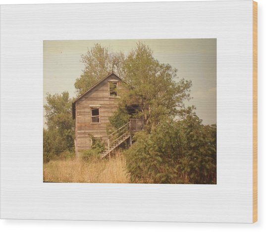 Barn Wood Homestead Wood Print by Hal Newhouser