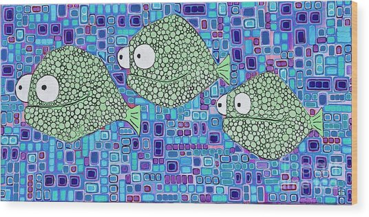 Barnacle Fish Wood Print