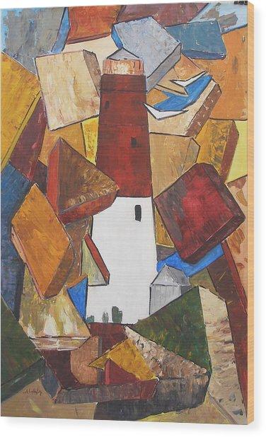 barnegat lighthouse I Wood Print
