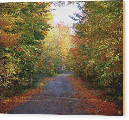 Barnes Road - Cropped Wood Print