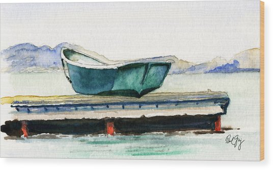 Barnstable Skiff Wood Print