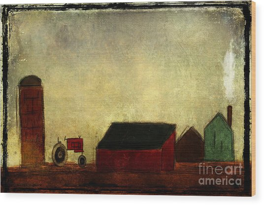 Barnyard Lullaby From Ginkelmier Land Wood Print