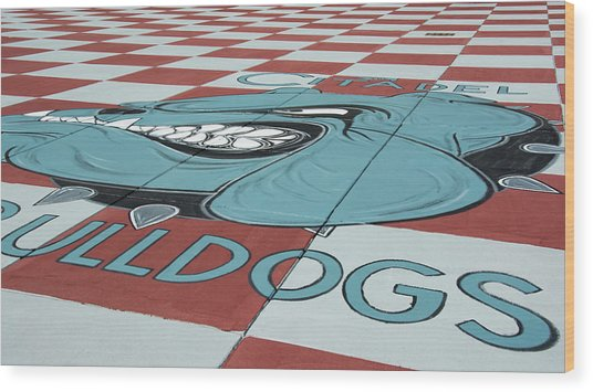 Barracks Bulldog Wood Print