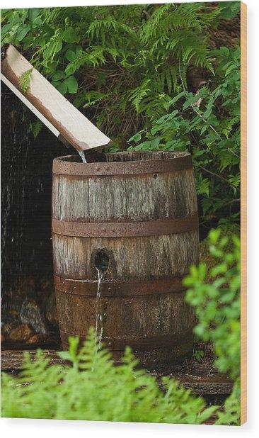 Barrel Of Water Wood Print