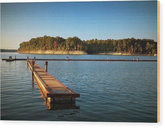 Barren River Lake Dock Wood Print