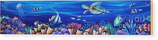 Barrier Reef Wood Print