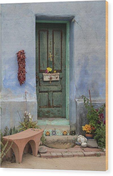 Barrio Door Wood Print