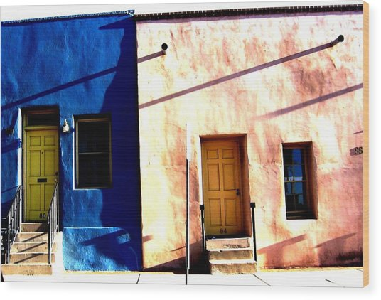 Wood Print featuring the photograph Barrio Viejo 1 by Michelle Dallocchio