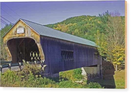 Bartonsville Bridge Wood Print