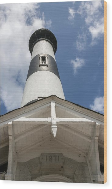 Base Of Bodie Island Lighthouse Wood Print