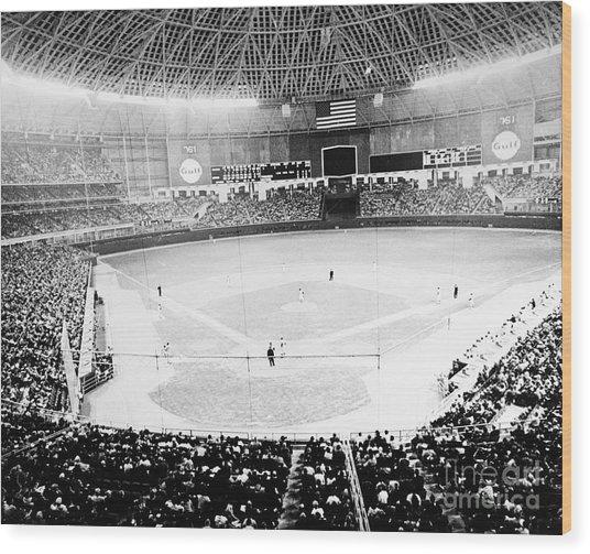 Baseball: Astrodome, 1965 Wood Print