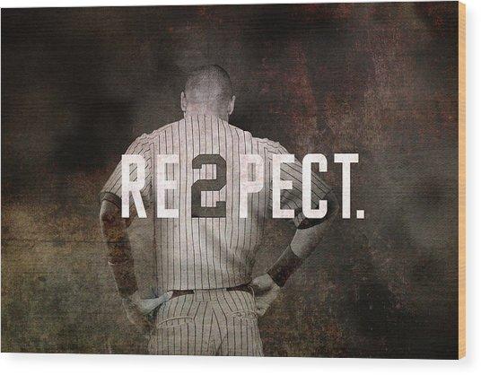 Baseball - Derek Jeter Wood Print