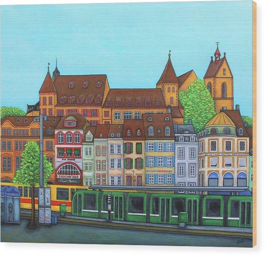 Basel, Barfusserplatz Rendez-vous Wood Print