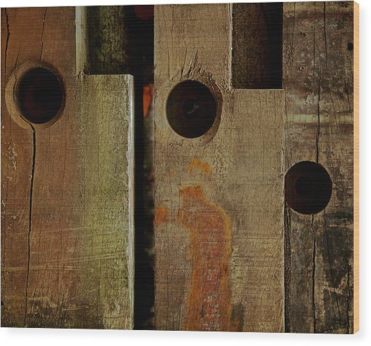 Basic Geometry Wood Print