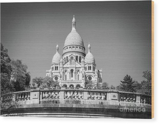 Basilica Of The Sacred Heart In Paris Wood Print