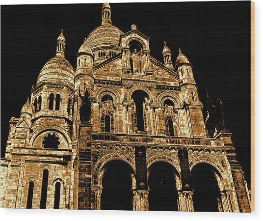 Basilica Of The Sacred Heart Wood Print