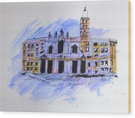 Basilica St Mary Major Wood Print