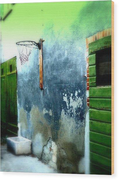 Basketball Court Wood Print