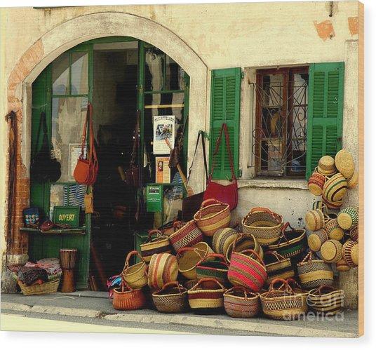 Baskets Anyone Wood Print