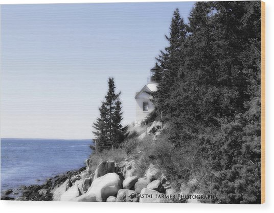 Bass Harbor Light Wood Print