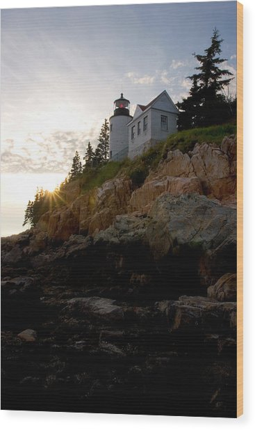 Bass Harbor Lighthouse 1 Wood Print