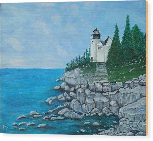 Bass Lighthouse Wood Print
