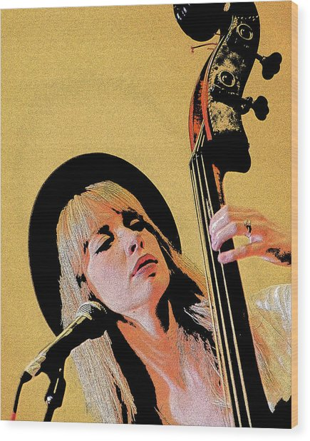 Bass Player Wood Print