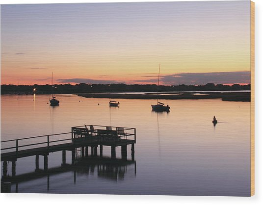 Bass River Before Sunrise Wood Print